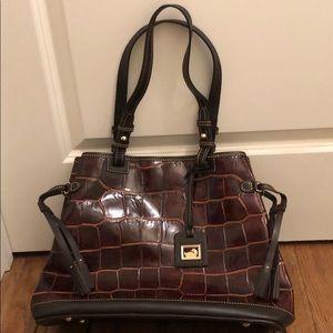 Dooney & Bourke croc print shoulder bag